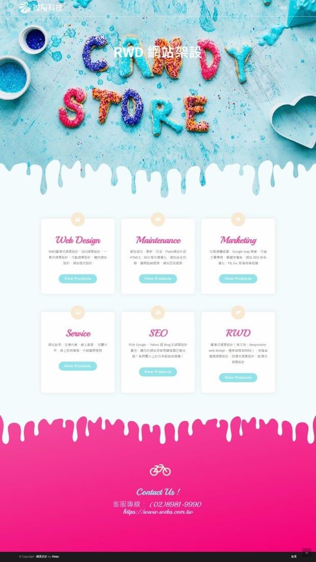 網頁設計-風格19-1