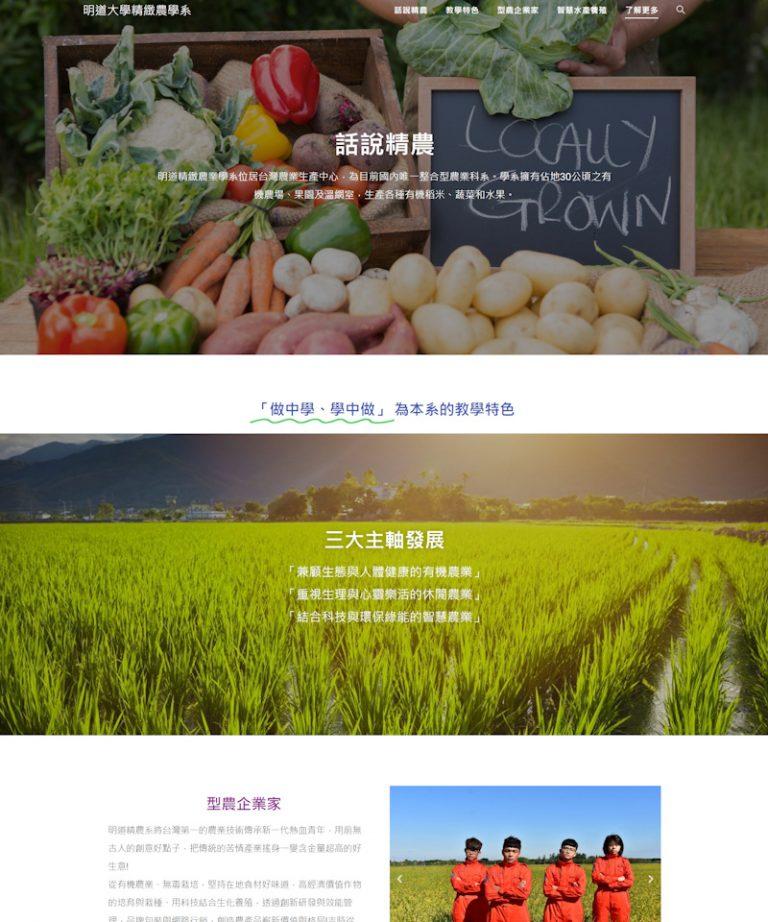 網頁設計-精緻農業系