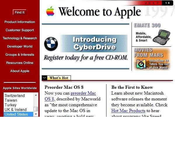 1990~2000年網頁設計初期