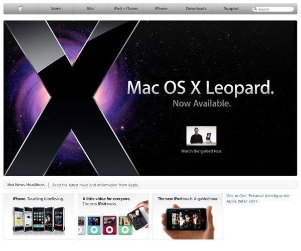 2008年Apple網頁設計