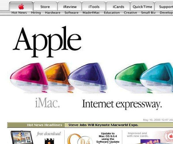2000年Apple網頁設計